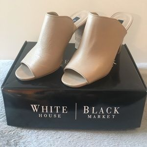 White House Black Market leather mules in size 9M